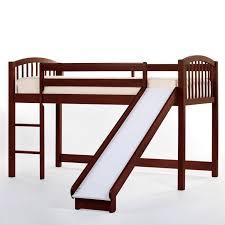 ne kids schoolhouse junior loft bed with slide cherry 4060nsl