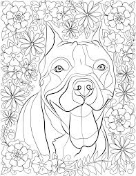 De-stress With Pit Bulls: Downloadable 10 Page Coloring Book for ...