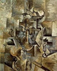 georges braque violin and candlestick oil on canvas 1910 example of