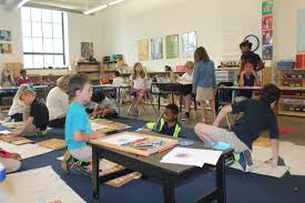 a classroom at city garden montessori where the number of students considered from low income families has fallen from more than half to just over a third