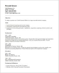 Cfo Resume Example Free Templates Collection Successful. Professional  Affiliations ...