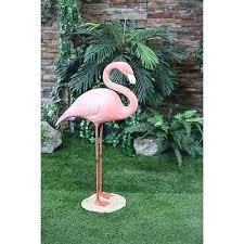 metal flamingo garden decor new large pink flamingo stand statue garden ornaments outdoor yard garden decor metal flamingo garden decor