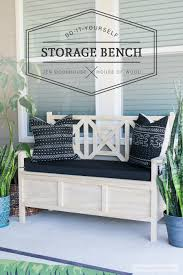how to build a diy outdoor storage bench with beautiful fretwork panels and storage under