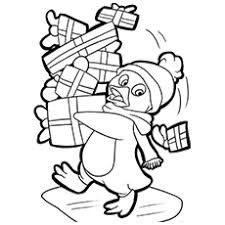 Small Picture Penguin Coloring Pages Free Printable for Kids