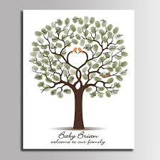 115 Best Baby Shower Images On Pinterest  Pregnancy Baby Shower Fingerprint Baby Shower Tree