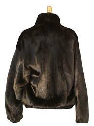 ranch mink fur jacket reversible to leather