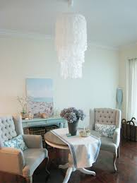 make a capiz chandelier with wax paper