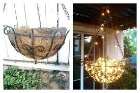 outdoor gazebo chandelier chandeliers outdoor chandelier outdoor chandelier made from a hanging planter fishing line pendant