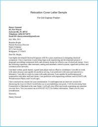 Remarkable Sample Relocation Cover Letter As Resume Cover