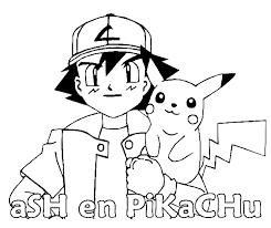Pokemon Kleurplaten Pikachu Ash