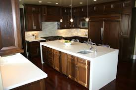 Dark Mahogany Kitchen Cabinets Contemporary White Wooden Kitchen Cabinet L Shape Built In Oven