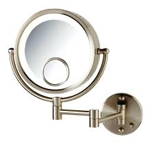 large image for amusing lighted wall mount magnifying makeup mirror for your gl lights with light