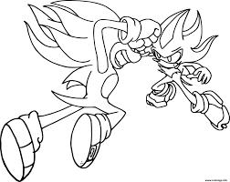 Coloriage De Sonic Et Shadowll L