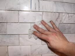 wash tiles for diy marble kitchen backsplash