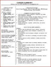 Professional Summary Example   Template Design Distinctive Documents We found      Images in Brief Summary For Resume Gallery