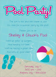 pool party invitation wording bined with your creativity will make this looks awesome 1
