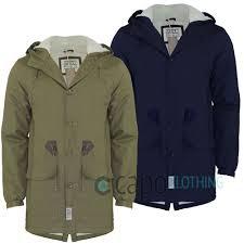 Designer Fishtail Parka Mens Hooded Parka Jacket Designer D Struct Tanum Fleece