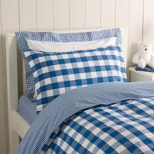 Light Blue Gingham Duvet Cover Royal Blue Reversible Gingham Bed Linen From The White