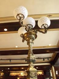 old ebbitt grill antique gas lights at our booth