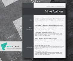 Modish And Elegant Freebie Stylish Word Resume Template Freesumes