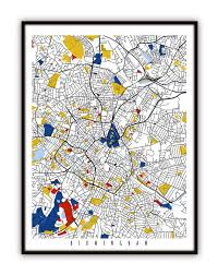 birmingham map art birmingham uk wall art print poster