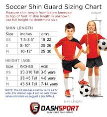 Shin Pad Size Chart Amazon Com Dashsport Soccer Shin Guards Dual Strap Design