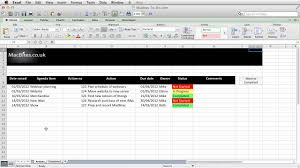 Excel - An Automated Action Tracker - Youtube