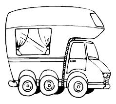 Auto Kleurplaten Camper