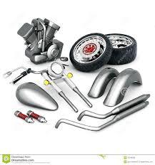 motorcycle parts set stock vector image of bike illustration