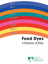 Food coloring is used both in commercial food production and in natural colors are not required to be tested by a number of regulatory bodies throughout the world, including the united states fda. Cspi Says Food Dyes Pose Rainbow Of Risks Center For Science In The Public Interest