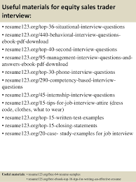 Equity Trader Resume Sample 12 Useful Materials For Sales Competent