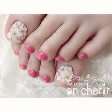 春夏フットフラワー3d Ancherirのネイルデザインno3101641