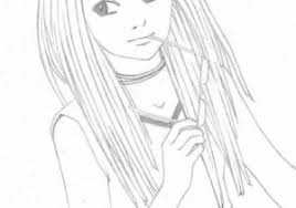 Cute Cartoon Girl Drawing At Paintingvalleycom Explore Collection