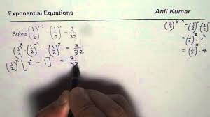 solve exponential equations with fractions