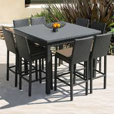 furniture bar height table luxury outdoor dining in