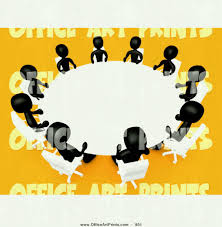 round table clipart black and white group of people panda free room with yellow or orange