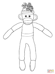 Sock Monkey Coloring Pages And