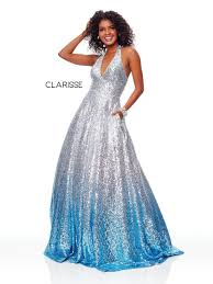 Clarisse 3820 Ombre Sequin Prom Dress