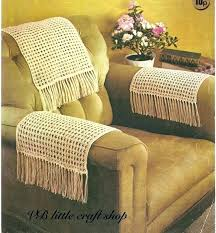 furniture armchair arm covers crochet pattern for protectors flexible wooden sofa armrest tray table the green