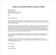 Cover Letter In An Email 3 Customer Service Sample Pdf Template Free
