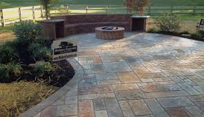 Stamped concrete patio with stairs Wood Stamped Concrete Patio Cincinnati Ohio Pinterest Walkers Concrete Llc Stamped Concrete Patio Ideas Adding Seating
