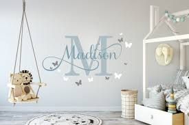 girls name with erflies 2 wall sticker