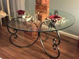 wrought iron glass end table iron glass coffee table coffee tables iron and glass coffee table