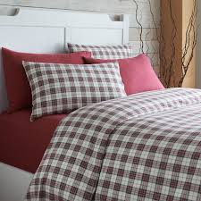 grand patrician 2 piece twin flannel duvet cover set in xmas plaid