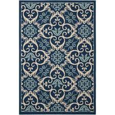 caribbean navy 4 ft x 6 ft indoor outdoor area rug