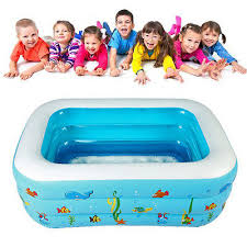1 3m portable baby kid toddler inflatable bathtub newborn thick bath tub summer