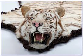 homey white tiger skin rug real rugs home design ideas agjd0o8ja3