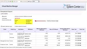 Chargeback Reporting For Ms Private Cloud With Operations Manager