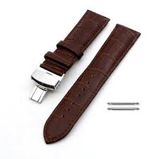 leather replacement watch band strap steel erfly buckle 1032 loading zoom