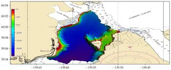 Noaa Bathymetric Charts Bathymetric Model Generated Using The Data Collected By The